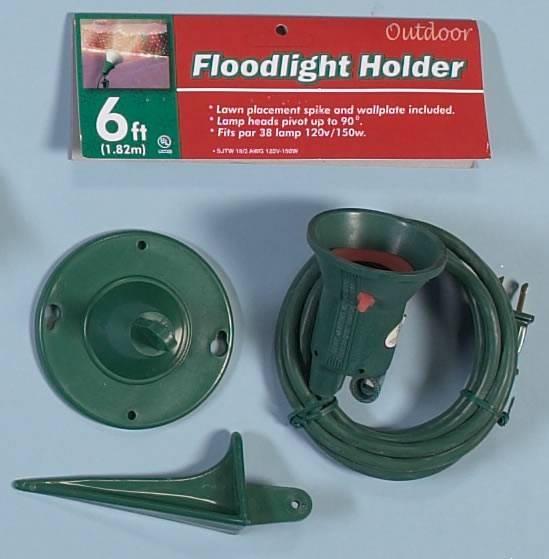 Christmas Decorating With Floodlights : Flood light holder with stake
