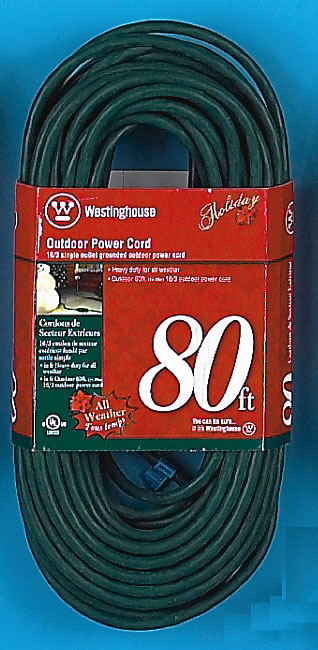 Outdoor christmas light extension cord