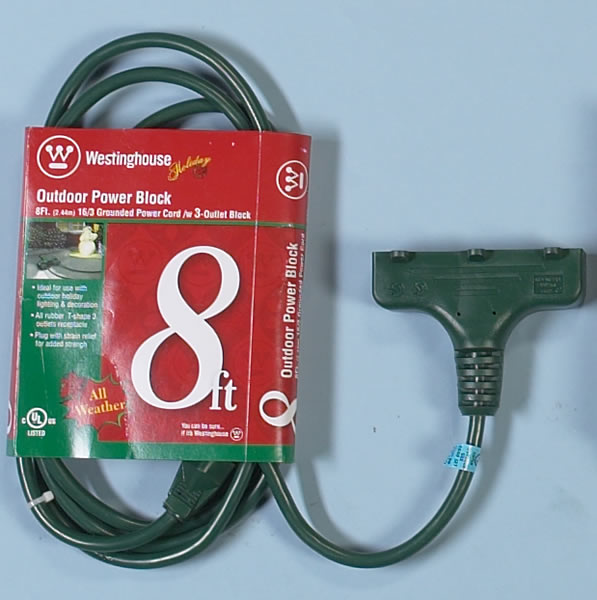 tri connector green extension cord