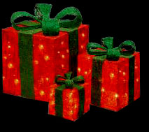 Outdoor Lighted Christmas Presents