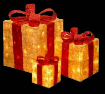 Lighted Outdoor Christmas Presents