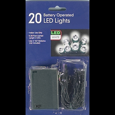 LED Clear Battery Lights