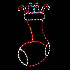 Outdoor lawn Christmas Stocking LED