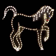 indoor outdoor lighted horse - Christmas Lighted Horse Carriage Outdoor Decoration