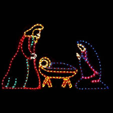 3 Piece Nativity. Yard Nativity Lighted Display. Outdoor Nativity Scene
