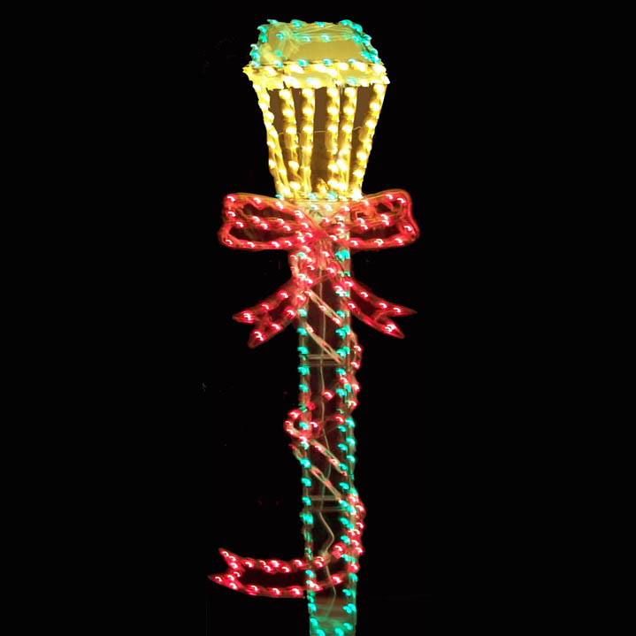3D outdoor lighted lamp post