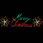 Lighted Outdoor Merry Christmas Sign