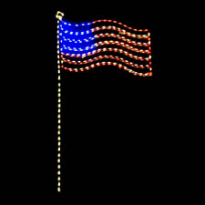 Led Usa Lighted Flag
