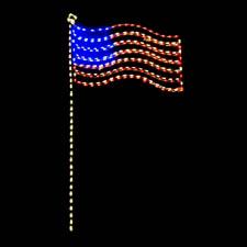 Outdoor LED USA Flag
