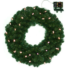 Timer LED battery Operated Christmas Wreath