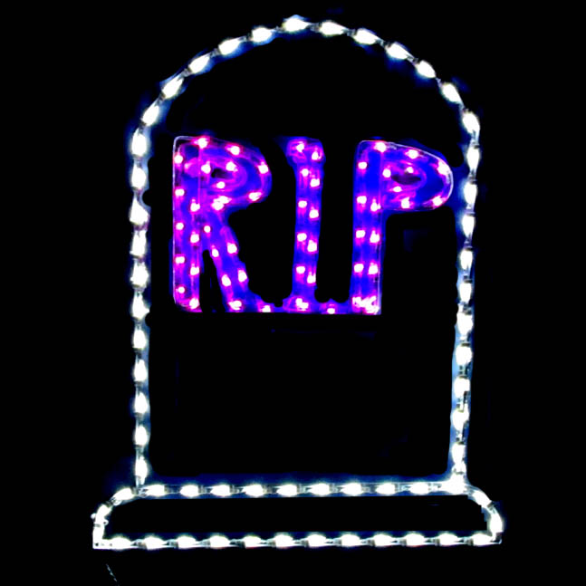 RIP LED Tombstone Display