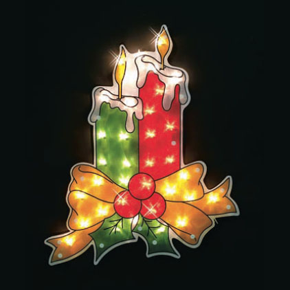 Lighted Window Candle decoration