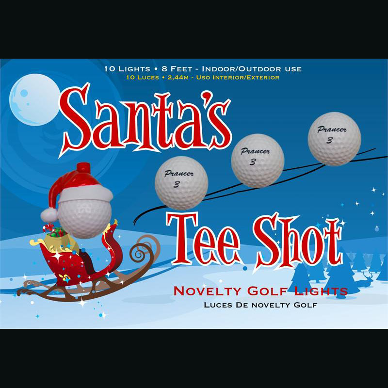 Santas Reindeer Golfball Novelty Lights