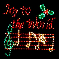 Outdoor Christmas Joy to the World display