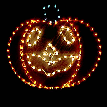 Lighted pumpkin for halloween decorations