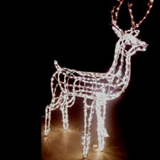 3d lighted reindeer for Animated lighted reindeer christmas decoration