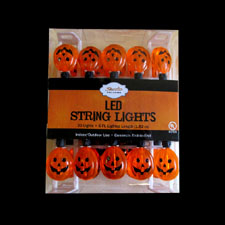 20 LED Jackolantern Light Set