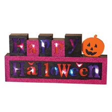 Battery Operated Happy Halloween Sign