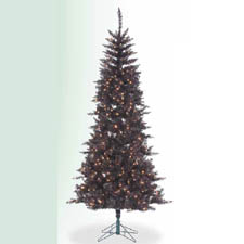 Pre-lit Charcoal Black Christmas Tree