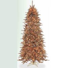 Pre-lit Copper Christmas Tree