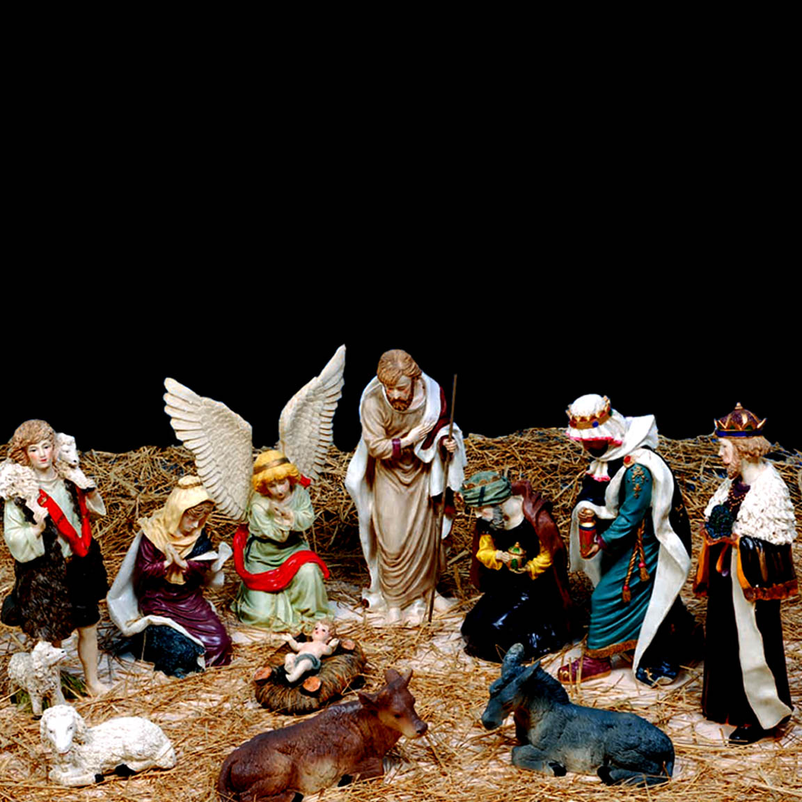Large polyresin 11 Piece Nativity