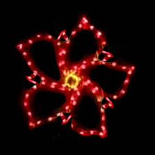 Outdoor Lighted Poinsettia