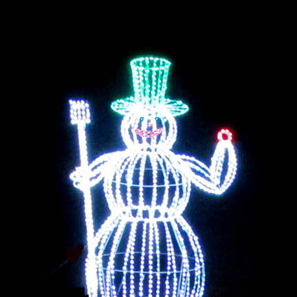 Outdoor 3D LED Snowman