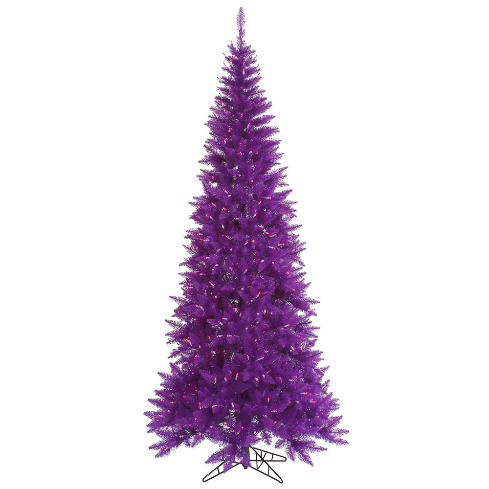 Prelit Purple 7.5 Christmas Tree