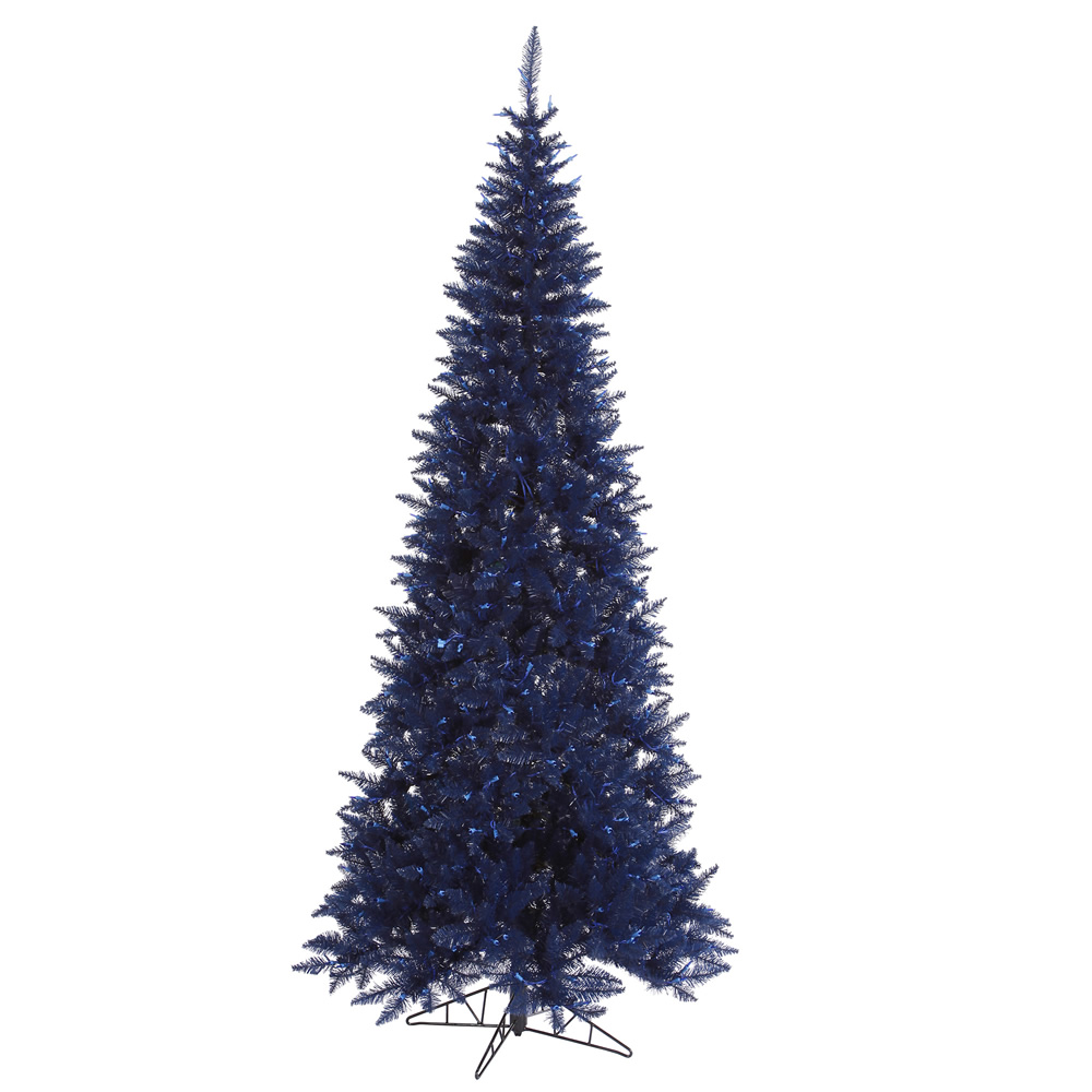 Blue Prelit Christmas Tree