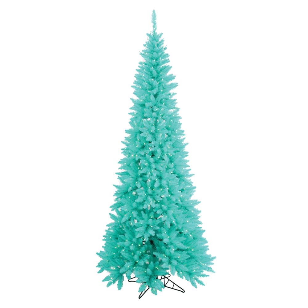 Prelit Aqua Christmas Tree
