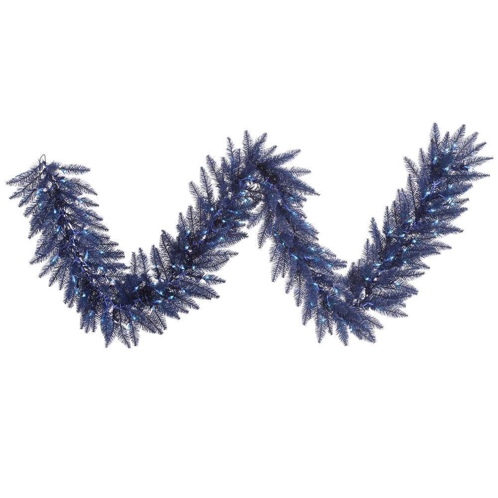 Blue Prelit Garland decoration