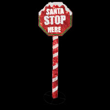 Christmas Santa Stop Here LED Display