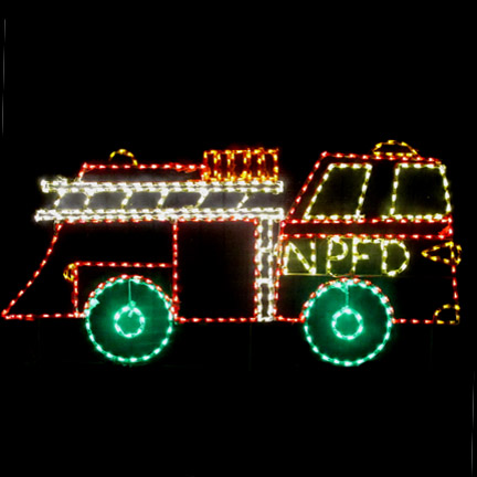 Fire Truck Christmas Decorations Outdoor  from www.theholidaylightstore.com