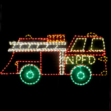 Santa Firetruck Lighted Decoration for yards