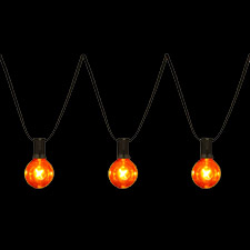 Halloween G40 Amber Globe Light string