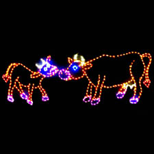 LED Cow Christmas Decoration