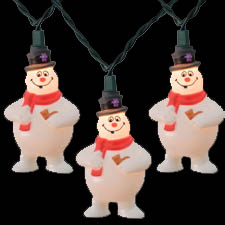 Frosty teh Snowman Novelty Light set