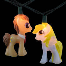 Set of 10 My Little Pony Novelty Lights for Christmas Trees