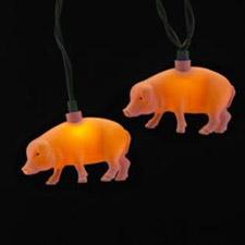 Christmas Tree Pig Light Set