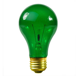 25W Green Party Light Bulb