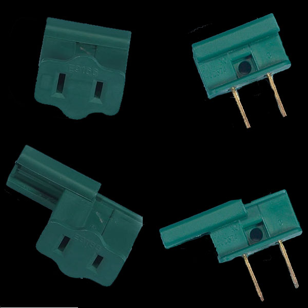Male Female SPT1 Green Plug Ends