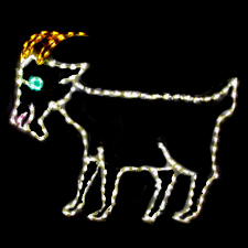 Outdoor Yard LED Goat decoration