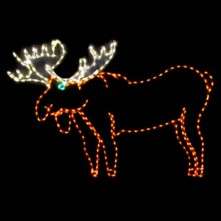 Led Lighted Moose