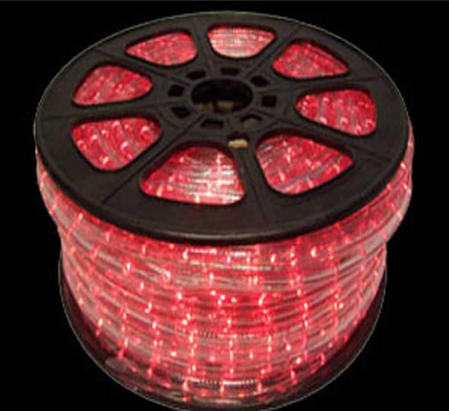 Led red rope light spool 150 feet red led rope lights aloadofball Gallery