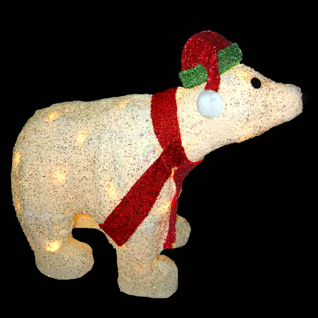 Christmas Lighted Polar Bear Display