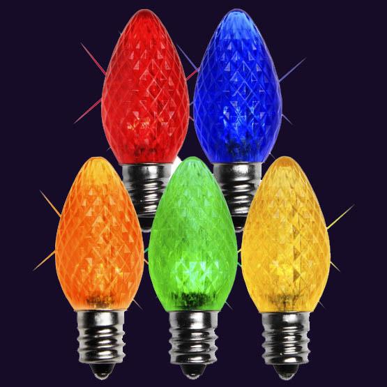 C7 LED Twinkle Bulbs