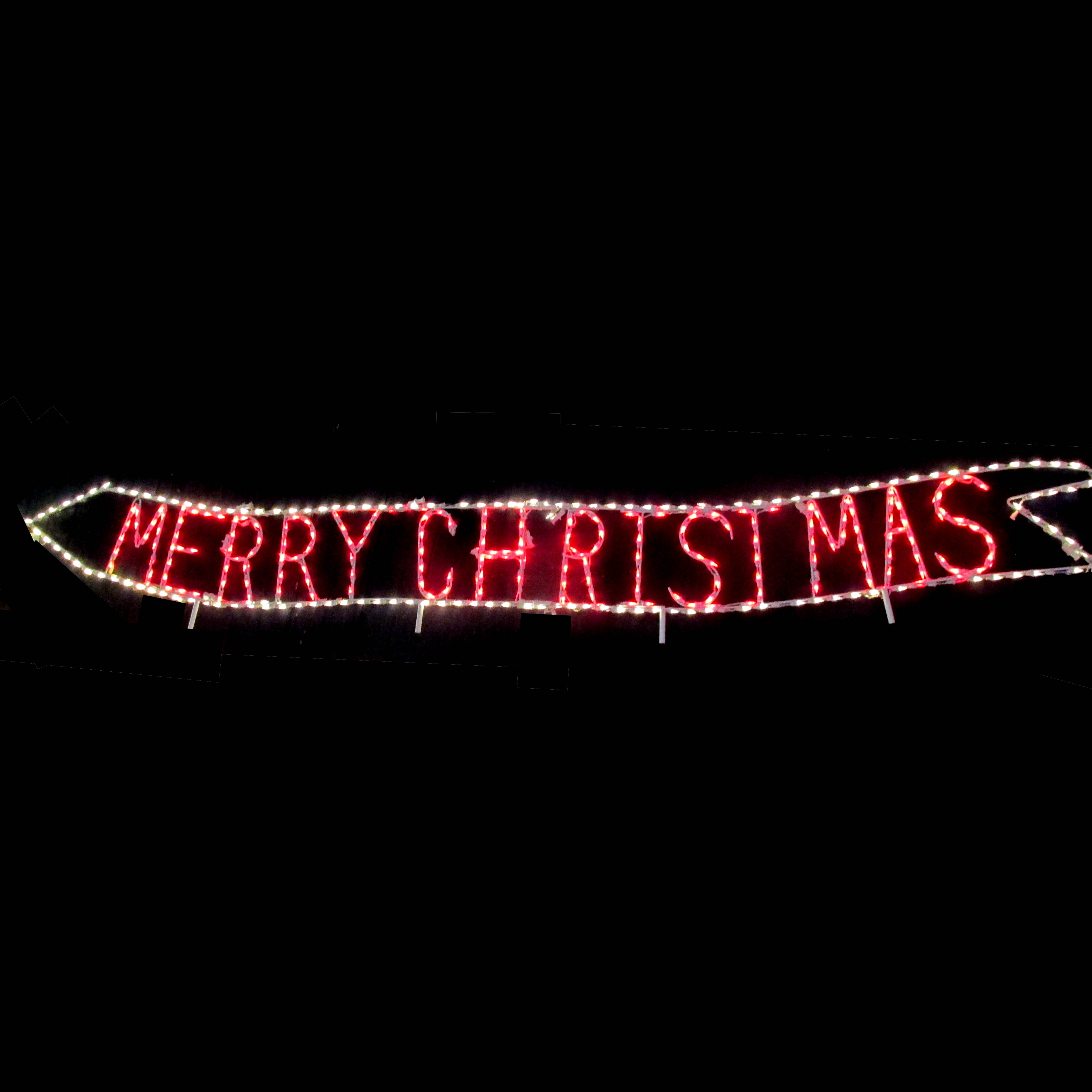 Airplane Banner says Merry Christmas display