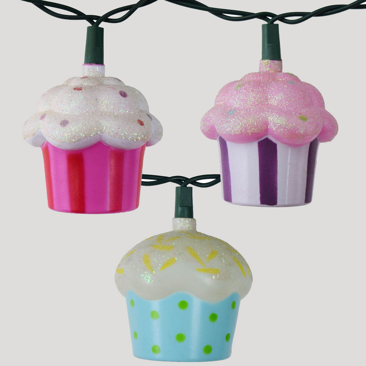 Christmas Tree Cupcake Lights