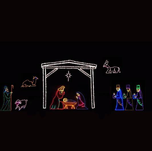 Christmas Yard  Nativity Scene