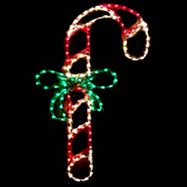 LED Outdoor Candy Cane Display